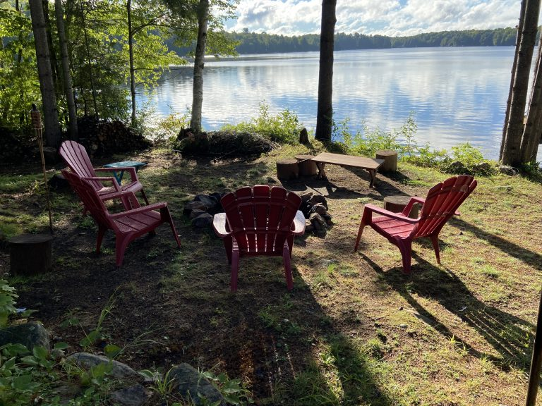 Haliburton, Cottage, Rental, Stormy, Lake, Spring, Summer, Fall, Fire, Firepit, Campfire